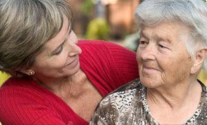 mother and daughter happy after downsizing